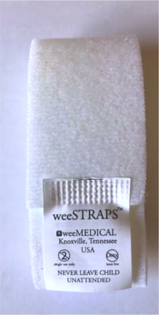 weeSTRAPS soft restraints for use with the weeSECURE restraint board